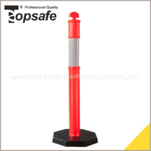 Safety Bollard with 6kg Rubber Base pictures & photos