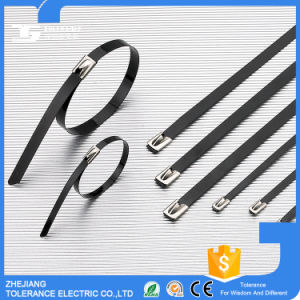 High Tensile Strength PVC Coated Stainless Steel Cable Tie, Epoxy Zip Tie pictures & photos