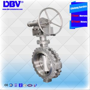 Industrial CF8 300lb Hand Wheel Operated Flange Butterfly Valve