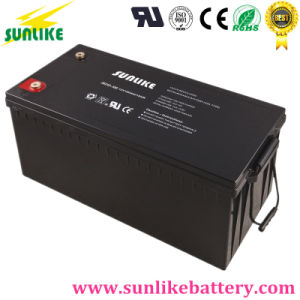 Free Maintenance 12V180ah Solar Power Battery for Alarm Systems pictures & photos