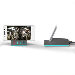 4 USB Smart Charger QC 3.0 Power Bank with Mobile Phone Holder pictures & photos