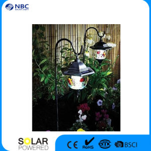 Solar Hexagonal Style Decorative Outdoor Garden Courtyard Lawn Lamp, Solar Lamp for Garden with White/Yellow Light pictures & photos
