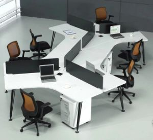 Chinese Office Parition Melamine L Shape Workstation (HX-NCD101) pictures & photos