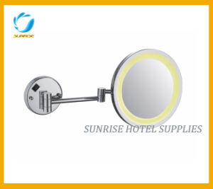 Single Sided Wall Mounted LED Light Magnifying Mirror pictures & photos