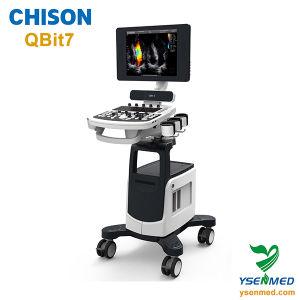 Chison Qbit7 Diagnostic Mobile Trolley Color Doppler Ultrasound Machine pictures & photos