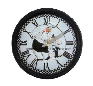 Cook in Kitchen Simple Promotional Wall Clock pictures & photos