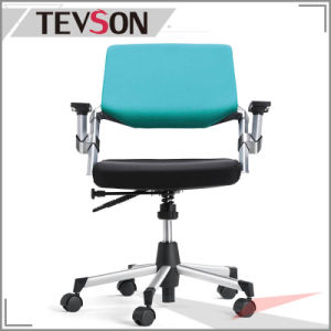 Office Swivel Chair in Foam and Fabric with Castors and Fixed Arm pictures & photos