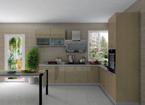 Fashion Gold Brass UV Paint Kitchen Cabinets Kitchen Units pictures & photos