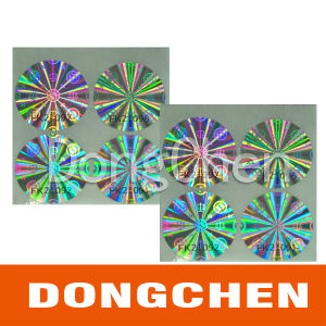 Hologram Circle Roll Self-Adhesive Sticker Label pictures & photos