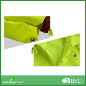 High Visibility Yellow Warming Work Uniform Reflective Safety Jacket pictures & photos