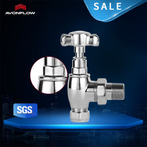 Avonflow 15*1/2 Brass Angle Chrome Radiator Valve pictures & photos