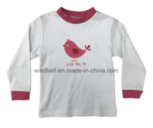 Simple and Cute Pullover for Girl with Front Print pictures & photos