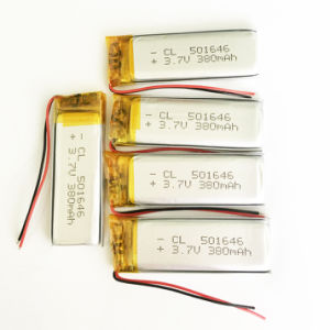 3.7V 380mAh Li-Po Rechargeable Battery for DVD Camera Bluetooth Camera pictures & photos