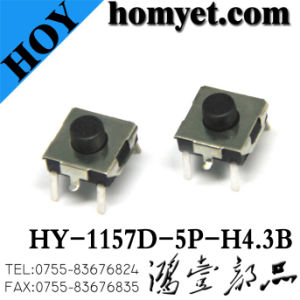 6.5*6.5mm DIP Type 4p Micro Tactile Switch with Red Button pictures & photos