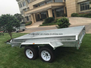 10X6 Double Axle Galvanized Box Trailer for Sale pictures & photos