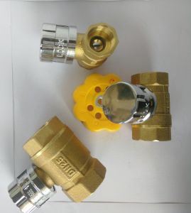 Brass Material Magnetic Lock Ball Valve Dn15-25mm pictures & photos