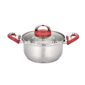 Stainless Steel Stock Pot with Combined Handle and Knob pictures & photos