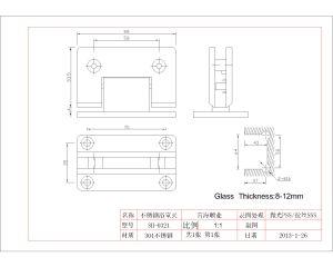 Stainless Steel Shower Door Hinge for Glass Door (SH-0321) pictures & photos