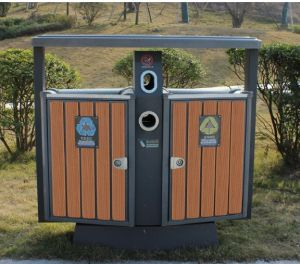 High Quality Outdoor Environment WPC Trash Can pictures & photos