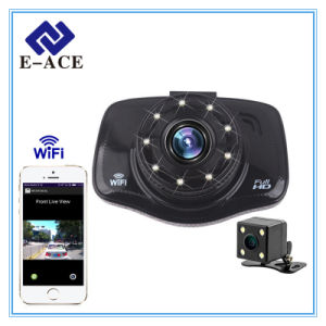 Mini Auto Dashcam Video Recorder Full HD WiFi Car DVR with Night Vision pictures & photos