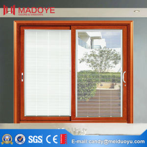 Elegant Rosewood Aluminum Sliding Door for Bedroom pictures & photos