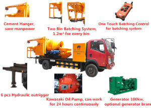 Electric Generator Concrete Pump with 18m3/H Drum Mixer pictures & photos