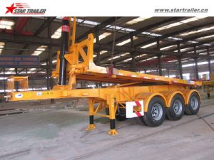 Tri Axles Flatbed Container Dump Trailer with 60ton Capacity pictures & photos