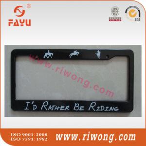 Black Personalized Script Plastic License Plate Frames pictures & photos
