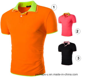 Hot Sell Unisex Cotton Golf Polo Shirt with Double Layer Collars pictures & photos