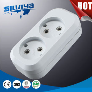 2 Way Extension Cord Socket Without Grounding pictures & photos