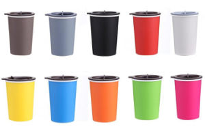 Convenient Double Walled 300mltravel Coffee Drink Mug with Rotary Lid pictures & photos