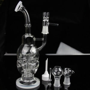 Thickened Glass Water Pipe Black White Oil Rigs Style pictures & photos