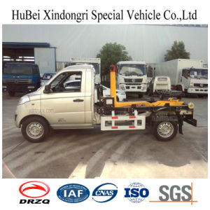 3cbm Foton Hook Arm Type Small Euro 5 Rubbish Gasoline Garbage Truck pictures & photos