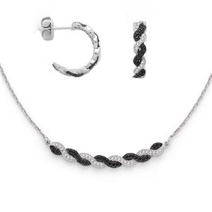 Hot 925 Sterling Silver Jewelry Set, with CZ Ke3003&Kn3003 pictures & photos