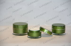 New Arrival Luxury Green Acrylic Cosmtic Jar Bottle (PPC-CPS-077) pictures & photos