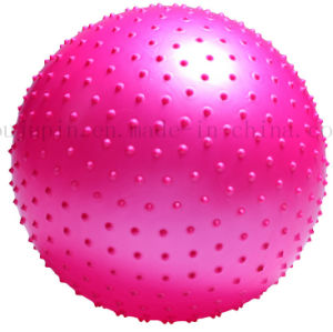 Custom Size Colorful PVC Thickened Ballance Yoga Ball with Particles pictures & photos