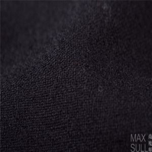 100% Wool Fabric for Autumn Season with Special Handfeel in Black