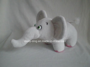 Plush White Sitting Elephant with Soft Material pictures & photos