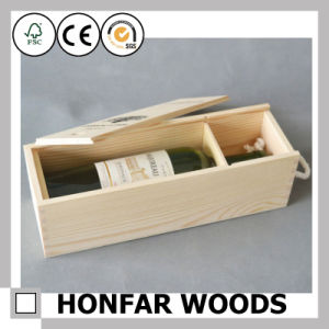 Customize Logo Wooden Box Wine Box Wine Packaging Box pictures & photos