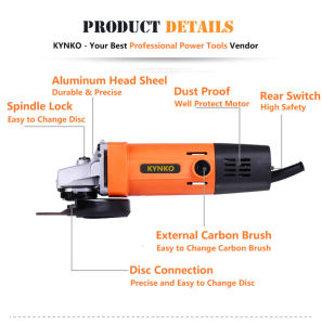 Kynko 100mm Electric Power Tools Angle Grinder for Stones (KD18) pictures & photos