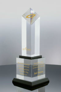 Zenith Award Trophy Clear and Black Optical Crystal to 1st Place Winner for Competitions (#5345) pictures & photos