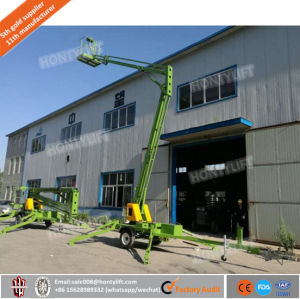 Widely Use Articulated Towable Boom Lift Trailer Mounted Cherry Picker Man Lift pictures & photos