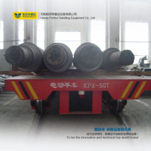 Cable Reel Operated Heavy Industry Use Rail Flat Factory Transfer Car pictures & photos