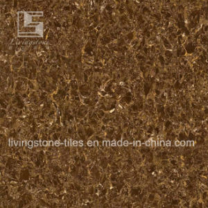 Dark Coffce Color Polished Porcelain Tile for Hotel pictures & photos