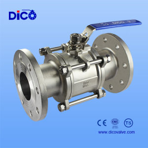 3PC Floating API Stainless Steel Flange Ball Valve with Handle pictures & photos