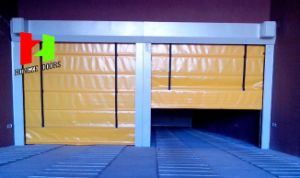 Fast Rapid Roller Shutter Folding PVC Exterior Fabric High Speed Flexible Stacking Door (Hz-FC039) pictures & photos