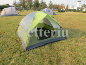 Double Layer Tent with Rain-Blocking Awning pictures & photos