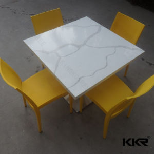 Artificial Marble Restaurant 4 Seater Dining Table (171120) pictures & photos