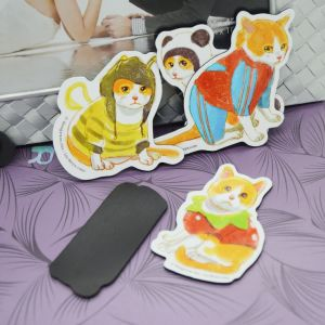 Paper Fridge Magnet Set Cat Designs 2mm Thick pictures & photos