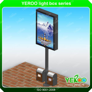 Crystal Street Advertising Signage Lamp Post Display Light Box pictures & photos